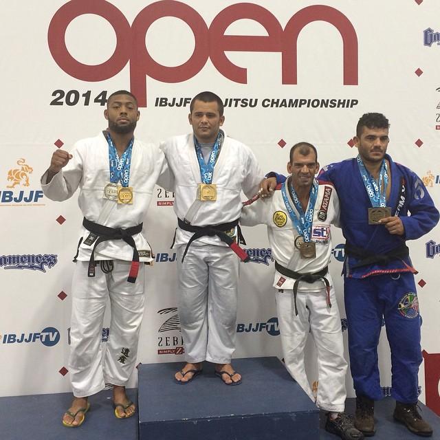 The adult black belt open class podium at the 2014 Atlanta Open
