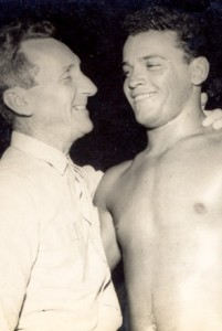 Carlos Gracie with his son Carlson.