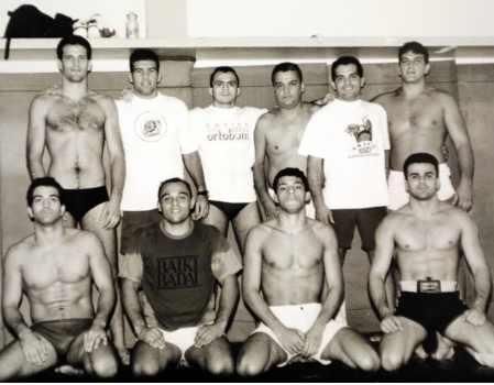 Carlson and his students in Brazil.