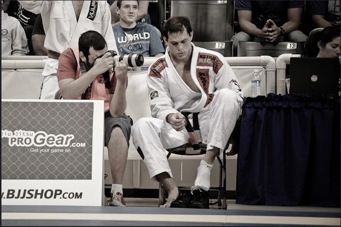 Roger Gracie após vencer mais uma luta no Mundial de Jiu-Jitsu. Foto: Regis Chen