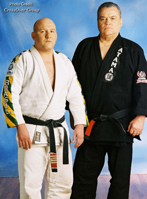Carlson Gracie Jr. and his father.