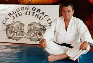 Carlson Gracie at his school.