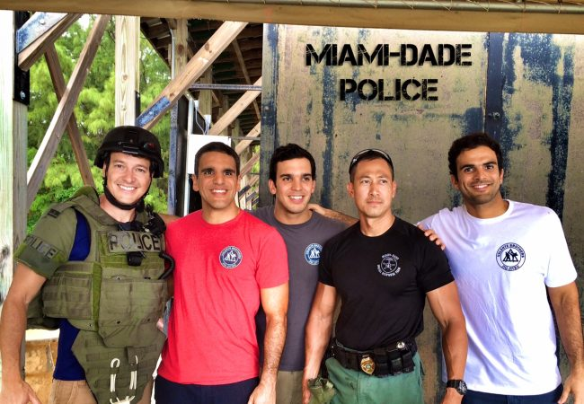 Valente brothers bring famous Brazilian TV host to the Miami-Dade Police