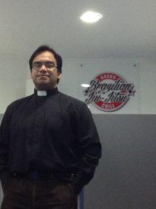 Victor, o padre que aderiu ao Jiu-Jitsu e sua filosofia. Foto: Arquivo pessoal