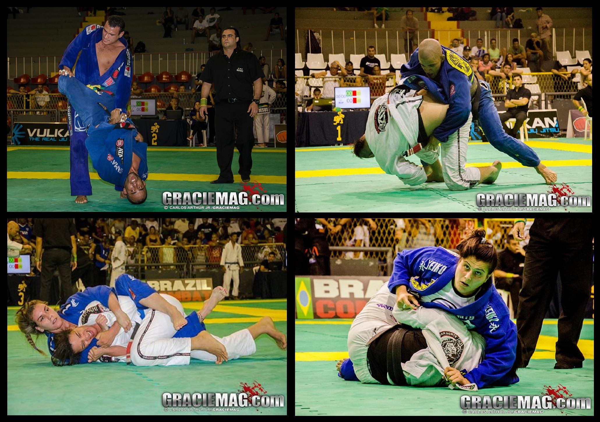 Os quatro finalistas do absoluto em ação nas semifinais. Fotos: Carlos Arthur Jr./GRACIEMAG