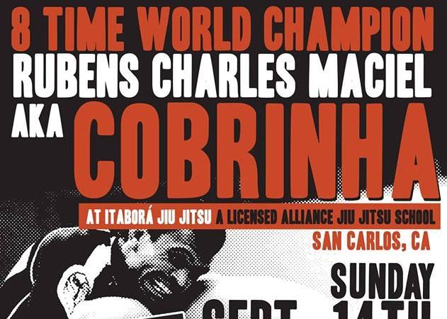 "GMA Alliance SF to host Rubens ""Cobrinha"" Charles this Sunday, Sept. 14"