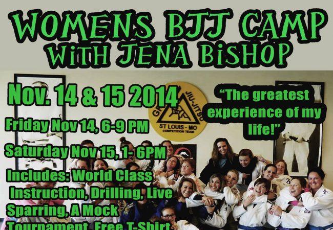 Train with Jena Bishop at GMA Gracie Humaita St. Louis for women's camp Nov. 14 & 15