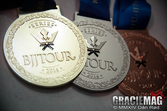 The medals from BJJ Tour Connecticut. Photo: Dan Rod