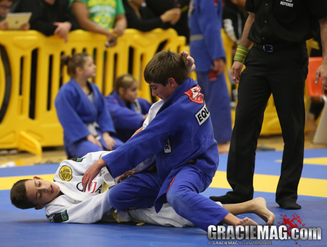 Kids competing in BJJ