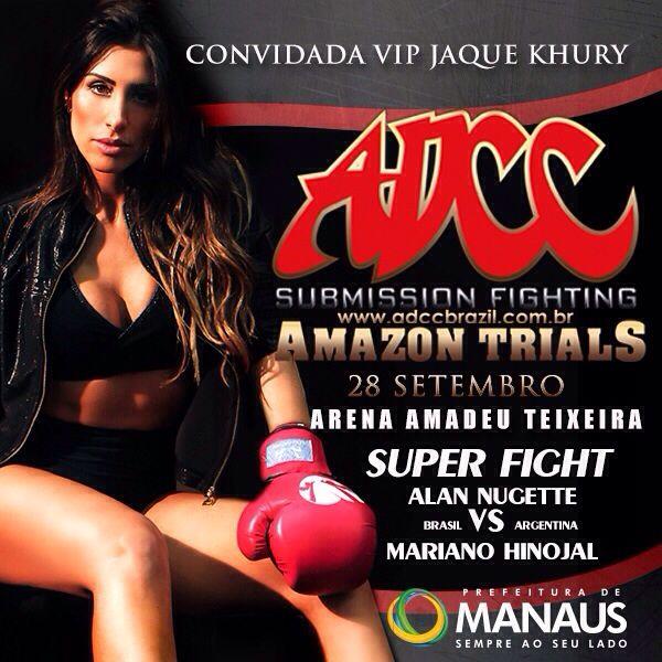 Jaque Khury estará em meio aos lutadores do Amazon Trials do ADCC. Foto: Divulgação
