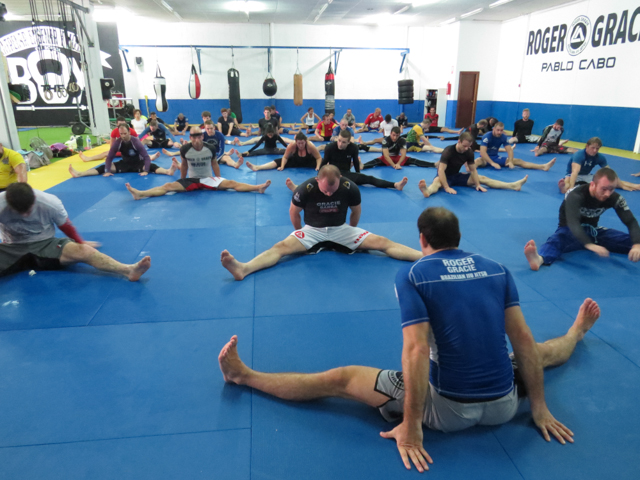 Roger Gracie during camp in Malaga, Spain