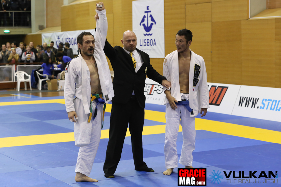 Paolo Amodeo made to the podium of his division at the 2014 European and deserved a standing ovation from the crowd