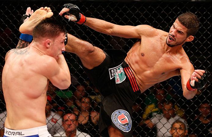 Leo Santos tem novo desafio no UFC, agora lutando em casa, no RJ. Foto: UFC