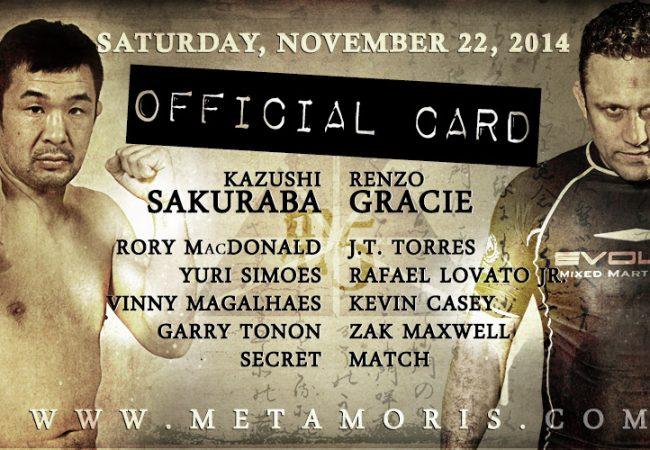 Metamoris 5: Renzo vs. Sakuraba announced as main event, see complete fight card