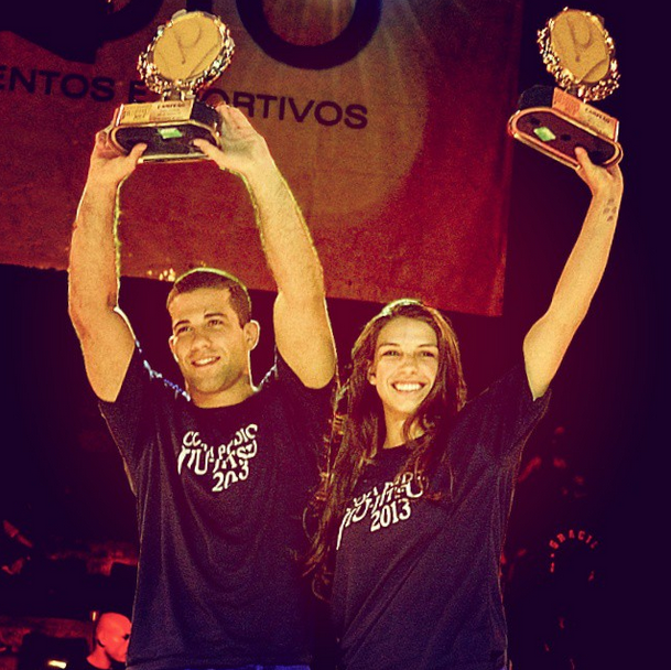 The couple Tanquinho and Mackenzie win at Copa Podio. Photo by Deive Coutinho
