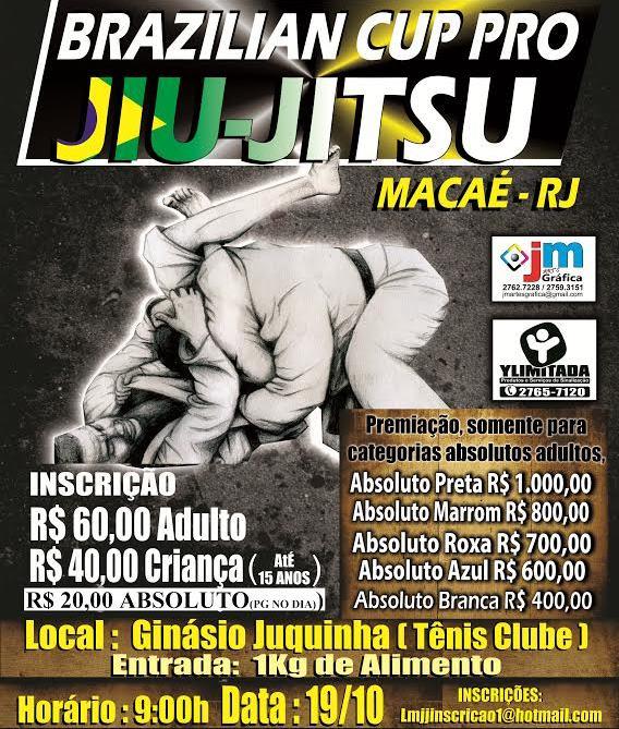 Campeonato de Jiu-Jitsu em Macaé, no Rio.