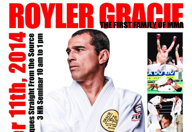 Royler Gracie to teach at Gracie North Carolina this Sunday, Oct. 11
