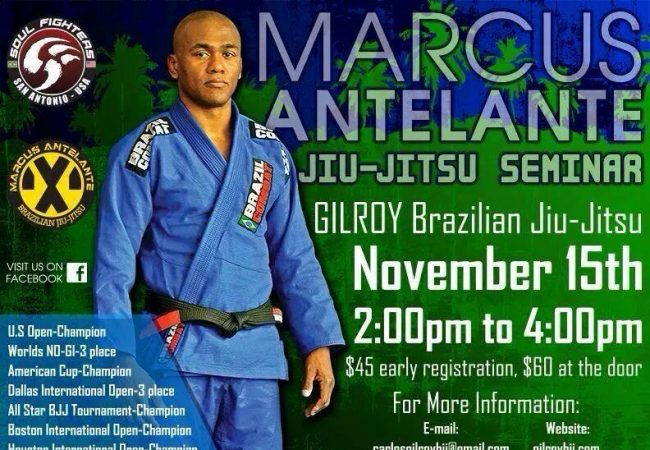 GMA Gilroy BJJ to host Marcus Antelante seminar on Nov. 15
