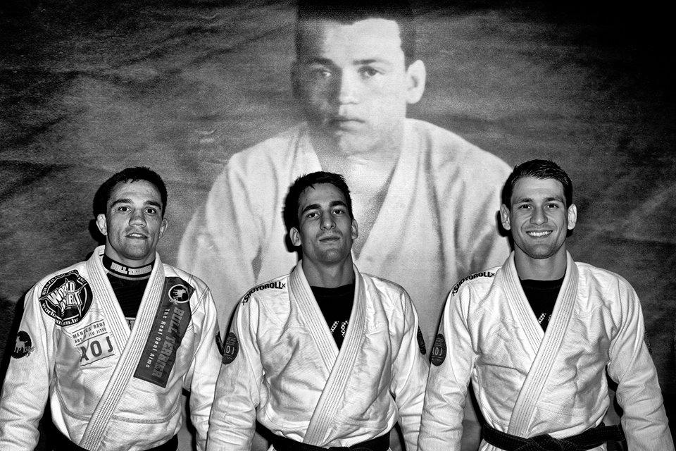 AOJ professors: Bruno Frazatto, Guilherme Mendes, Rafael Mendes. Photo: Nick the Tooth