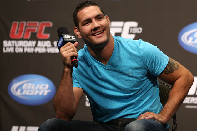Weidman becomes a hero outside the Octagon. Photo: UFC