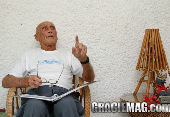 Helio Gracie explains why a whimp doesn't need to be strong with BJJ