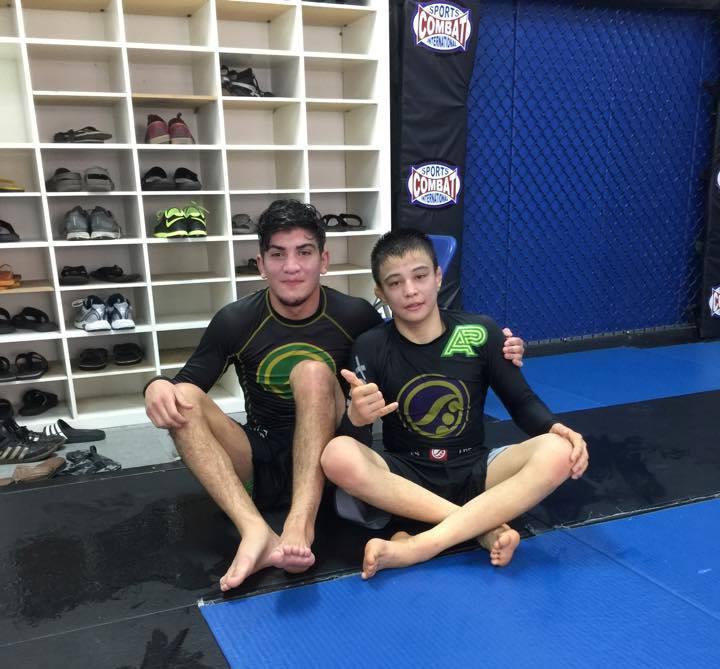 Dillon training with Joao Miyao. Photo: Personal Archive