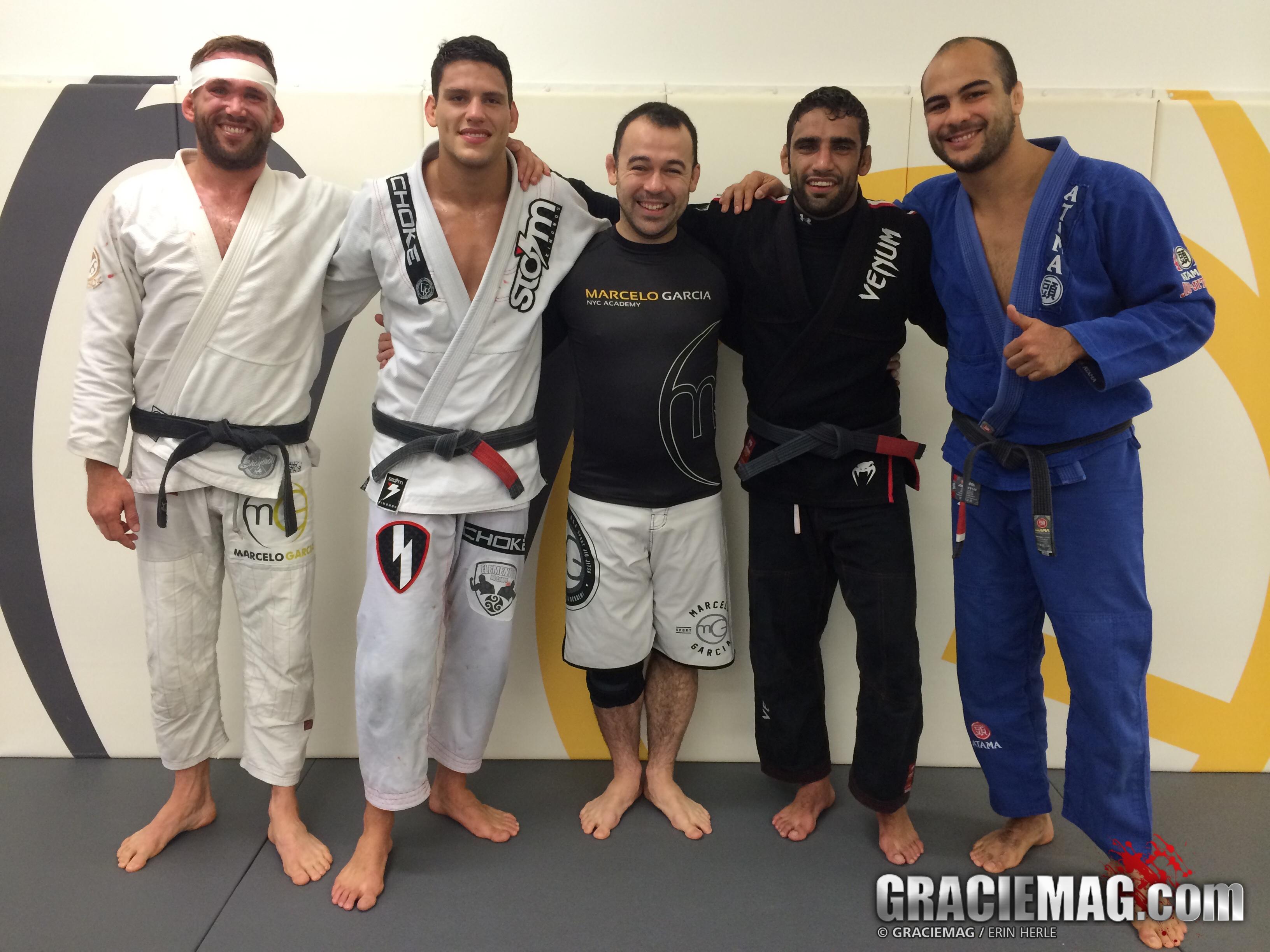 Paul Schreiner, Felipe Pena, Marcelo Garcia, Leandro Lo, Bernardo Faria. Photo: Erin Herle