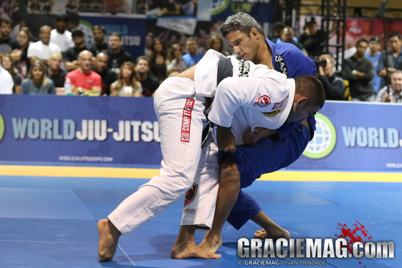 Vitor Shaolin takes Nono Schembri down at the 2014 World Jiu-Jitsu Expo