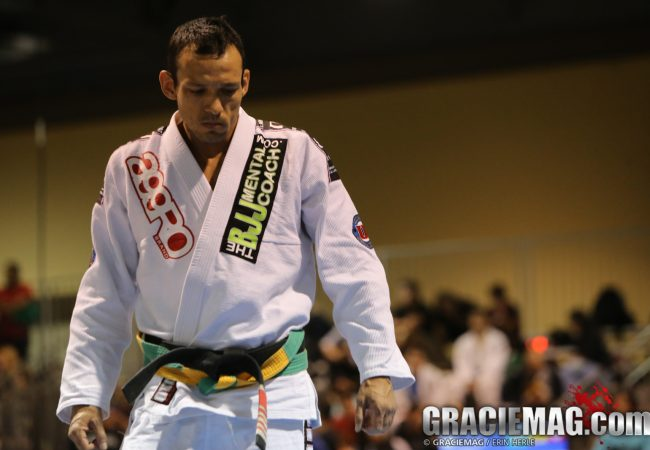 Gustavo Dantas teaches foot sweep takedown he used at 2014 IBJJF Vegas Open