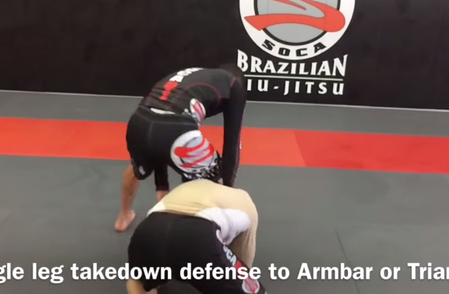 Quick tip: counter the single leg takedown with an armbar with Alexandre Soca