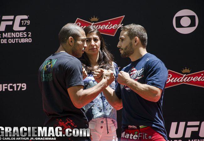 Fotos: Aldo e Chad agitam treino aberto do UFC no gramado do Maraca