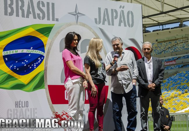 UFC homenageia histórico duelo entre Helio Gracie e Kimura, no Maracanã