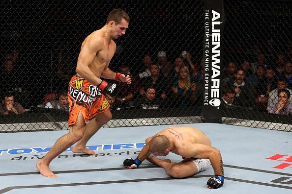 Rory mostra sua habilidade em mais um nocaute no UFC. Foto: Nick Laham/Zuffa LLC via Getty Images