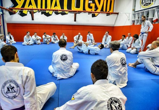 Black Belt Gui Valente demonstrates Jiu-Jitsu at the Royal Dutch Marines Base in Doorn