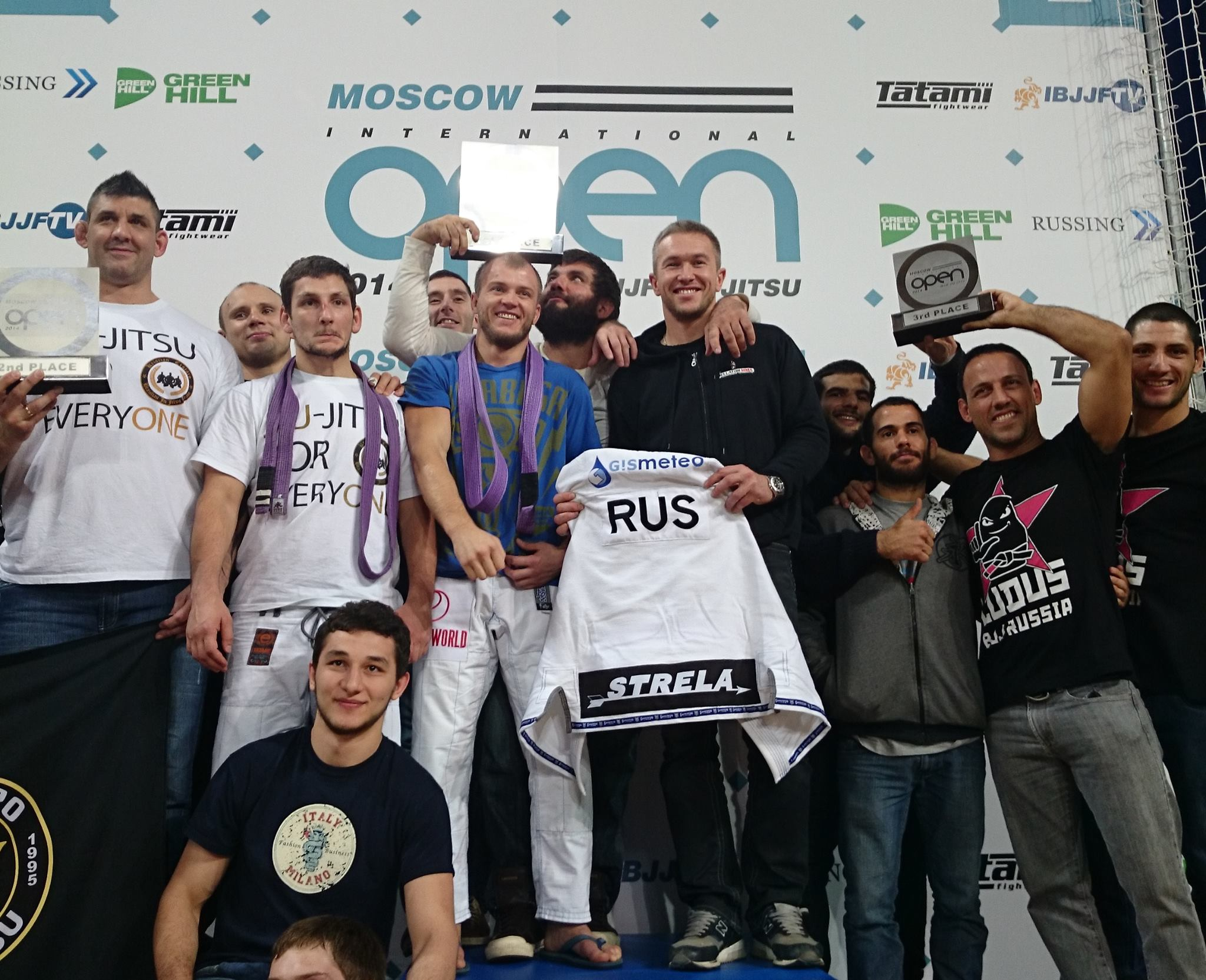 The teams after day two of the Moscow Open