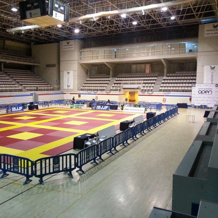 The setup at the 2014 IBJJF Madrid Open. Photo: IBJJF