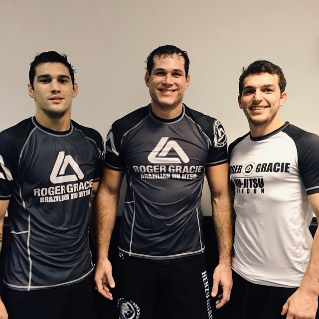 Cousins Robson, Roger and Kywan Gracie at Roger Gracie Academy in London, UK. Photo: Personal Archives