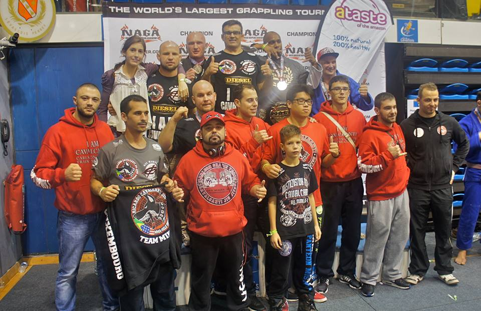 Cavalcanti International team at the 2014 NAGA Europe Championship. Photo: Personal archive