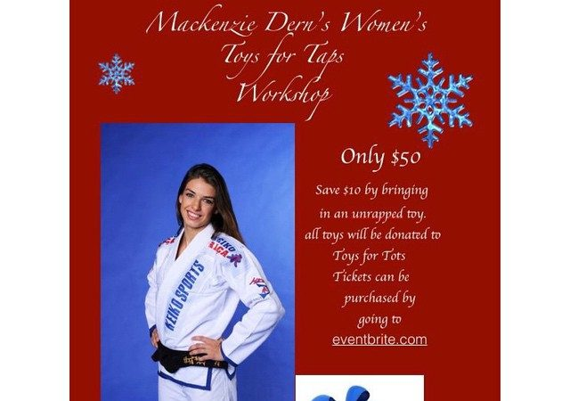 Learn from Mackenzie Dern and donate a toy in Tempe, AZ on Dec 7!