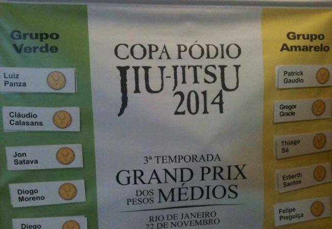 Copa Pódio de Jiu-Jitsu: sorteio define grupos do GP dos Médios, no Rio
