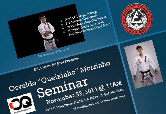 """Central California: Osvaldo """"Queixinho"""" seminar on Nov. 22 in Visalia"""