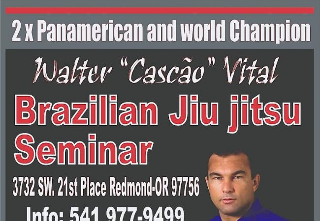 "Mark your calendars for Walter ""Cascao"" Vital seminar in Redmond, OR on Nov. 8"