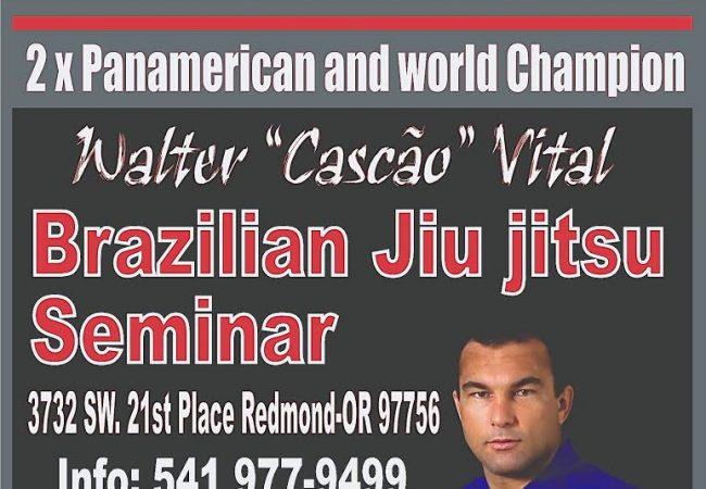 "Mark your calendars for Walter ""Cascao"" Vital seminar in Redmond, OR on Nov. 8"