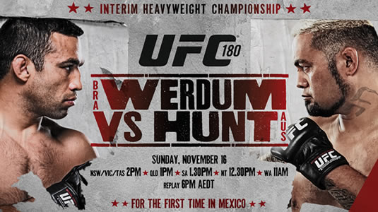 UFC 180: watch the countdown for Werdum vs. Hunt