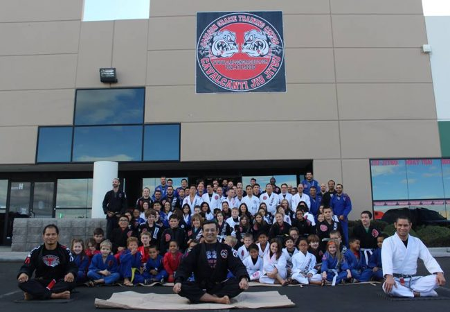 GMA Carlson Gracie Las Vegas-Cavalcanti BJJ holds belt ceremony for students, Santa