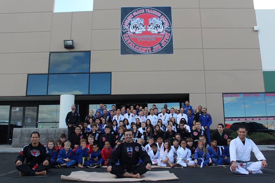 The Cavalcanti BJJ team at the belt ceremony. Photo: Personal archive