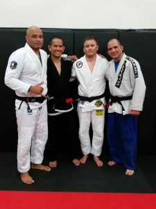 Three new black belts. Photo: Personal archive