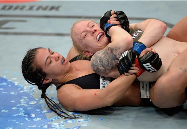 """Claudia Gadelha e o Jiu-Jitsu para o UFC de sábado: """"No chão, não tem jeito pra ela"""""""