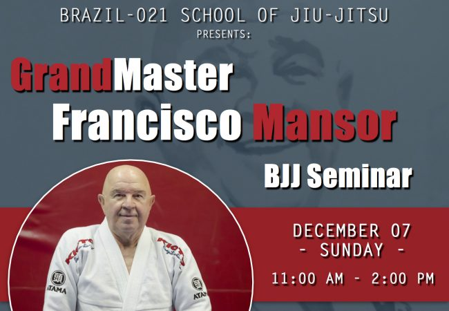 Join Grand Master Francisco Mansor at Brazil-021 in Chicago on Dec. 7