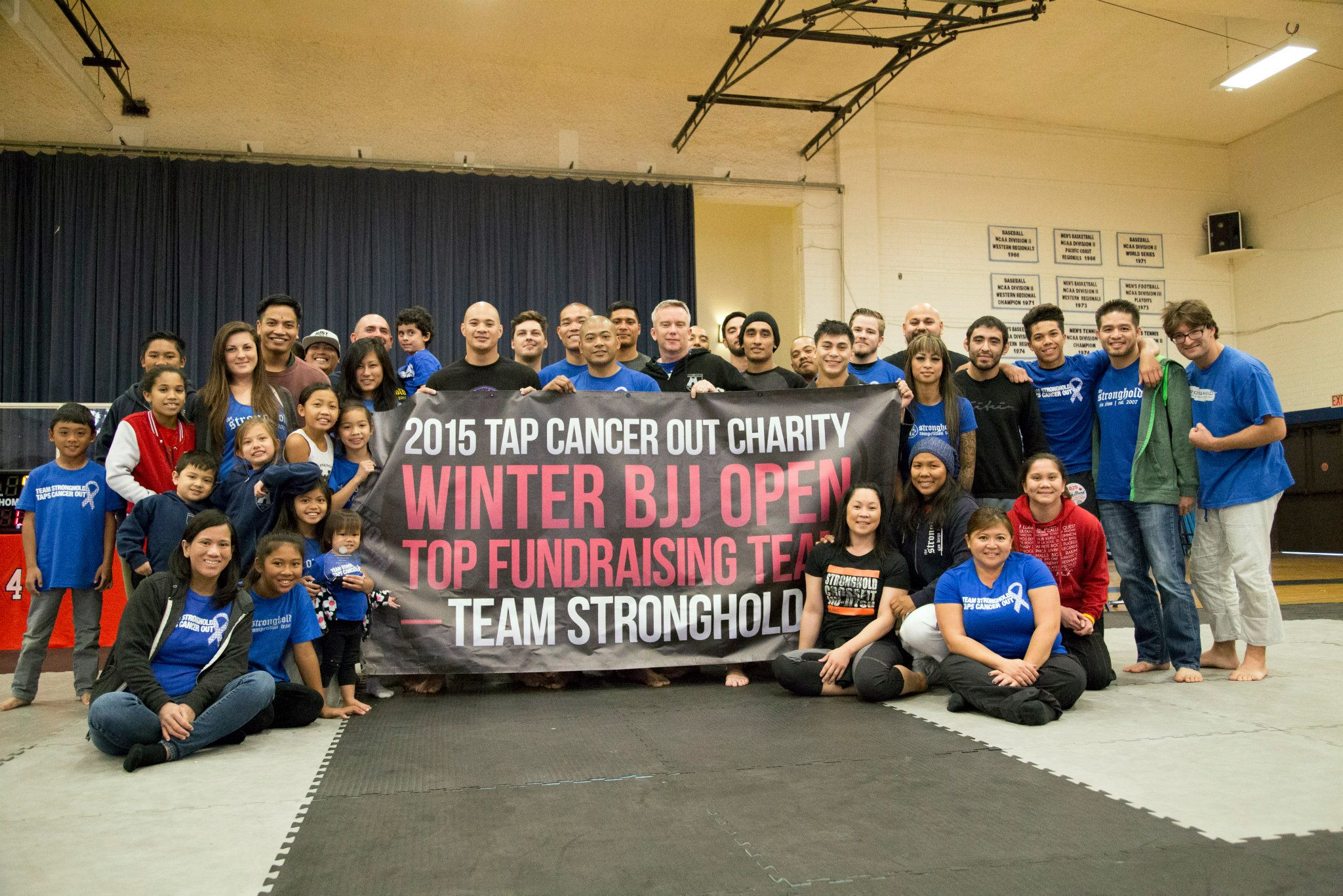 The Stronghold awarded top fundraising team. Photo: Tap Cancer Out